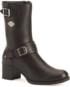 Harley Davidson Serita Women's Zipper Harness Boots