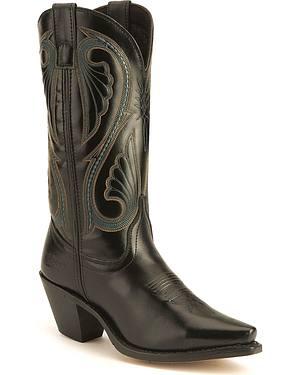 Laredo Polished Black Western Boots