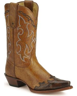 Tony Lama 100% Vaquero Western Cowgirl Boots - Snip Toe