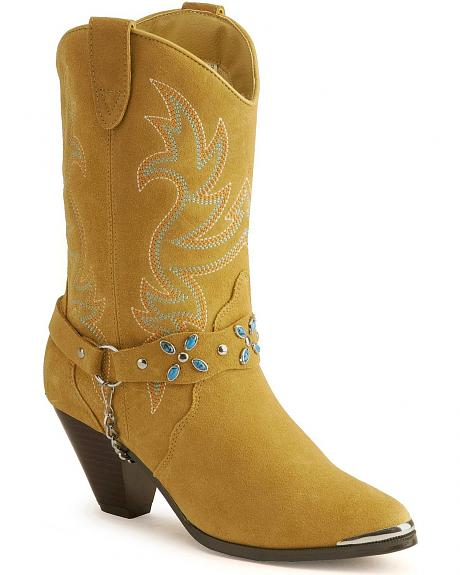Dingo stone harness cowgirl boots