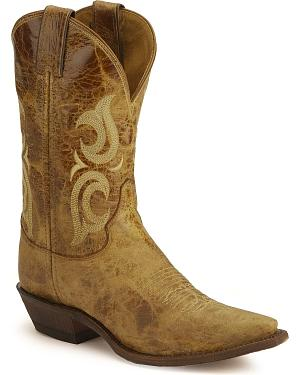 Justin Bent Rail Puma Cowgirl Boots