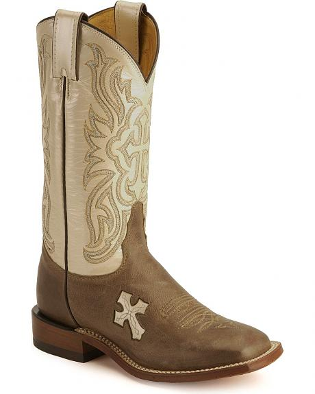 Tony Lama Cross Inlay Cowgirl Boots