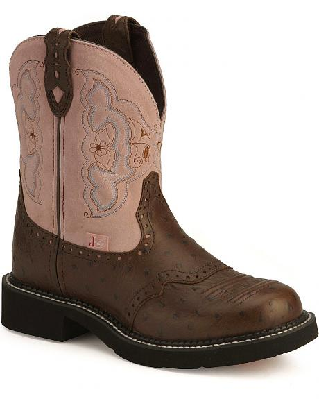 Justin Gypsy Cowgirl Ostrich Print Boots