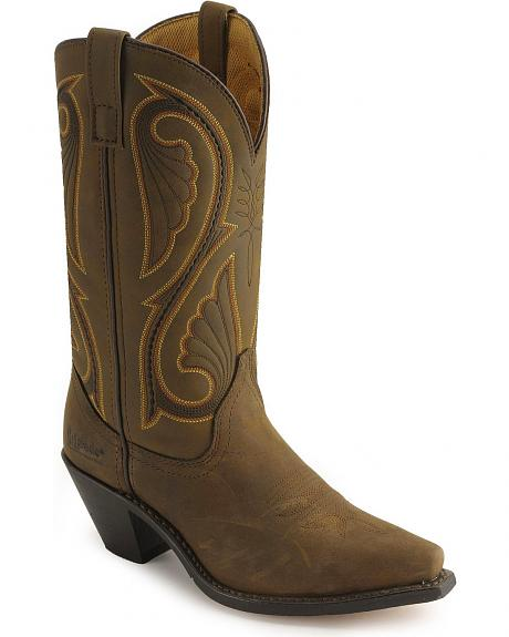 Laredo Distressed Leather Cowgirl Boots
