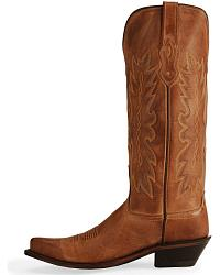 Old West Distressed Leather Cowgirl Boots - Snip Toe at Sheplers