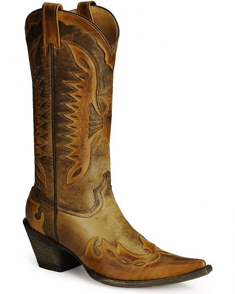Stetson Eagle Inlay Cowboy Boots