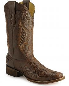 Corral Snake Inlay Cowgirl Boots