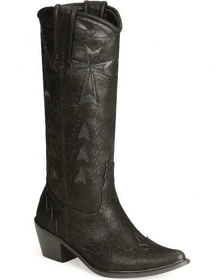 Roper Cross Inlay Fashion Boots