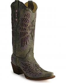 Corral Angel Wing Cross Cowboy Boots