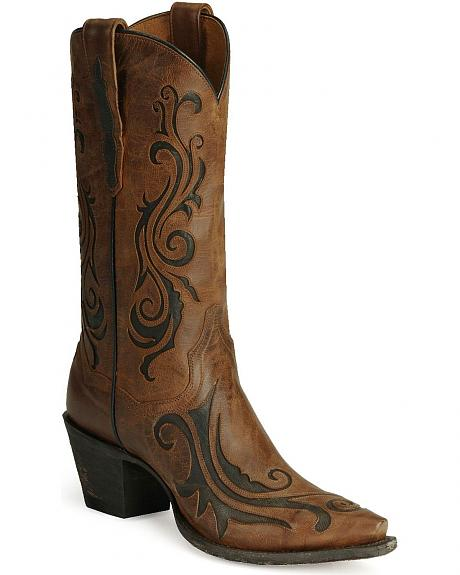 Dan Post Inlay Western Boots