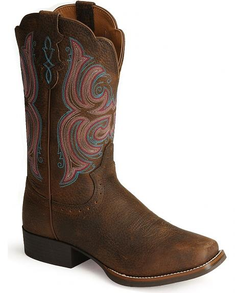 Justin Stampede Cattleman Cowgirl Boots