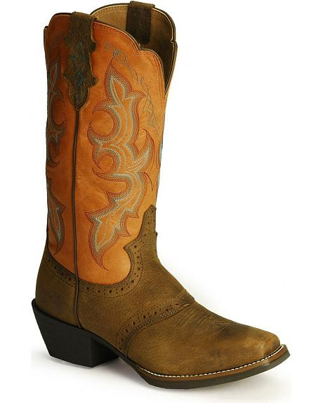 Justin Leather Stampede Punchy Cowgirl Boots
