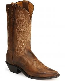 Tony Lama Stallion Leather Americana Cowboy Boots
