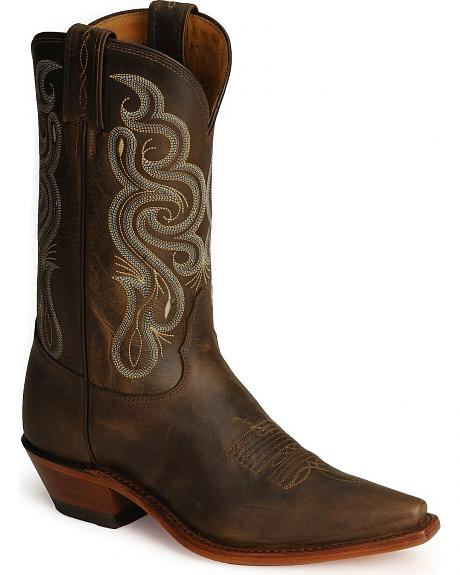 Tony Lama Bay Apache Leather Americana Cowboy Boots