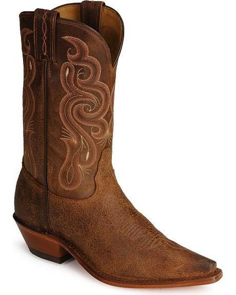 Tony Lama Navajo Leather Americana Cowboy Boots