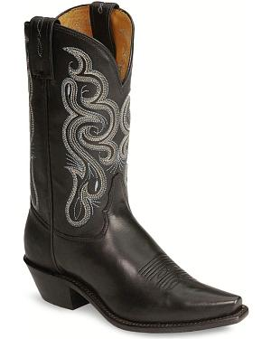 Tony Lama Stallion Leather Americana Cowgirl Boots