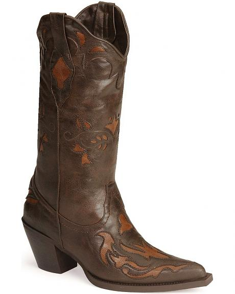 Roper Vintage Inlay Cowgirl Boots