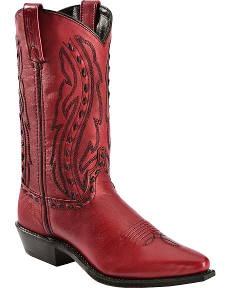 Abilene Whipstitched Red Cowgirl Boots