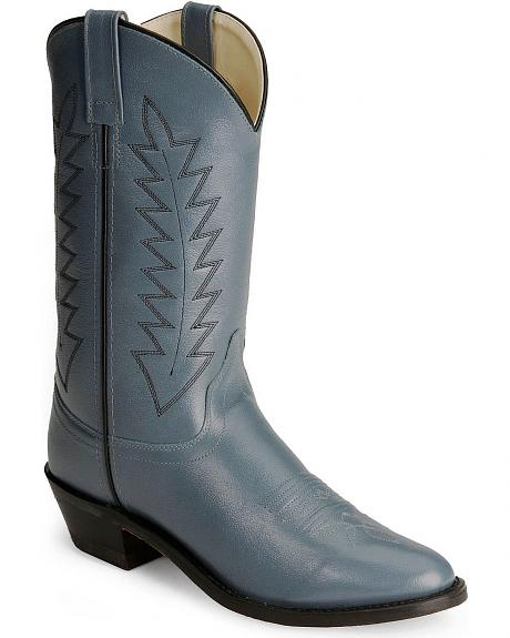 Old West Corona Leather Cowboy Boots