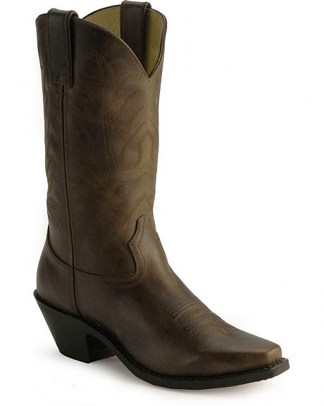 Durango Distressed Cowboy Boots - Square Toe
