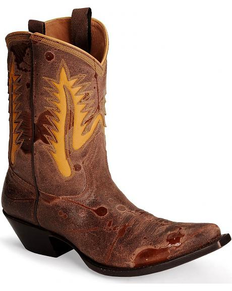 Johnny Ringo Waxy Short Cowboy Boots