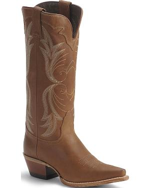 Nocona Tan Western Cowgirl Boots - Snip Toe