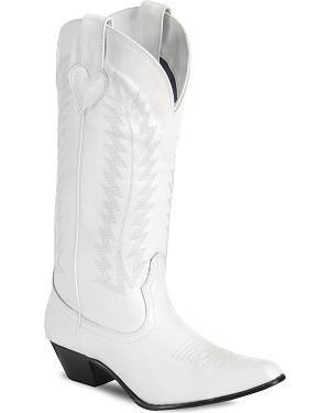 Chalice White Western Wedding Boots
