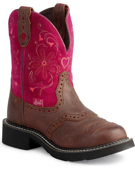 Justin Gypsy Heart Cowgirl Boots - Round Toe