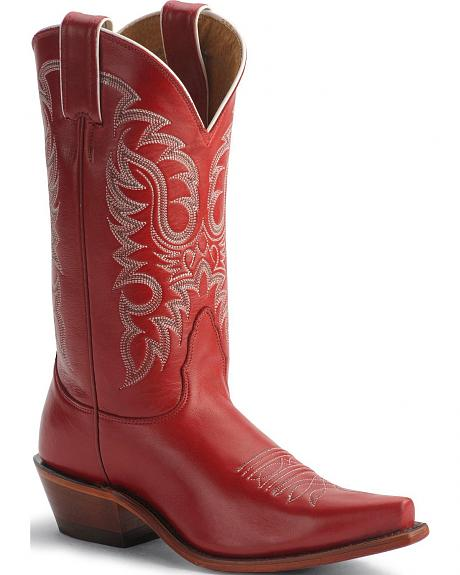 Nocona Red Legacy Cowgirl Boots - Snip Toe