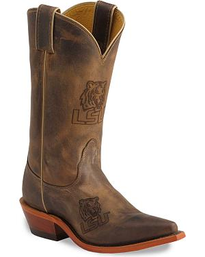 Nocona Louisiana State Tigers College Boots - Snip Toe