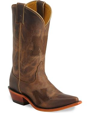 Nocona Nebraska Cornhuskers College Boots - Snip Toe