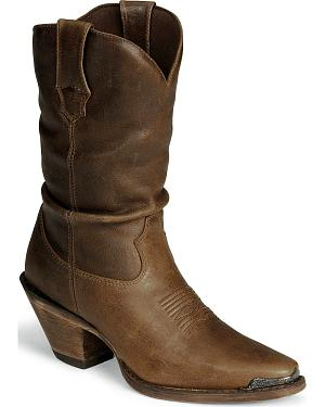 Durango Womens Crush Distressed Slouch Boots - Snip Toe