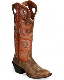 Tony Lama 3R Series Buckaroo Cowgirl Boots - Square Toe