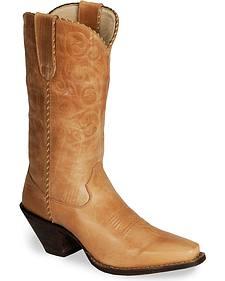 Durango Tan Cowgirl Boots - Snip Toe