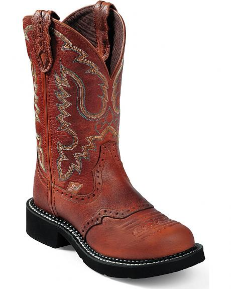 Justin Saddle Brown Gypsy Boots - Round