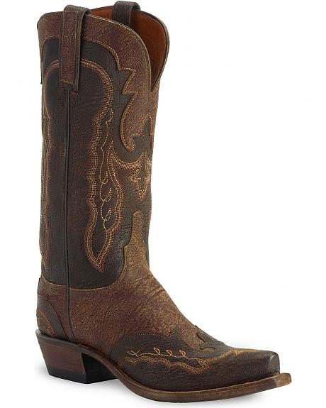 Lucchese Boots - Handcrafted 1883 Tan Marsh Goat Cowgirl Boot - Snip Toe