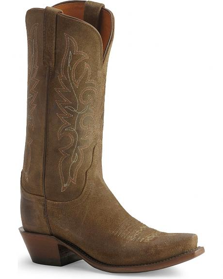 Lucchese Handcrafted 1883 Burnished Comanche Boots - Snip Toe