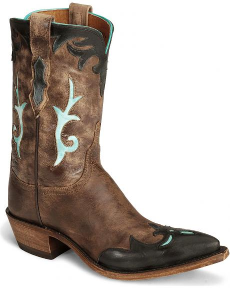 Lucchese Handcrafted 1883 Brown Antiqued Cowgirl Boots