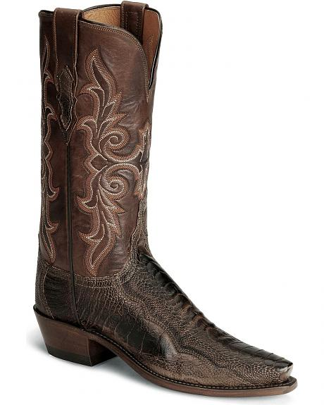 Lucchese Boots - Handcrafted 1883 Matte Ostrich Leg Cowgirl Boot - Snip Toe