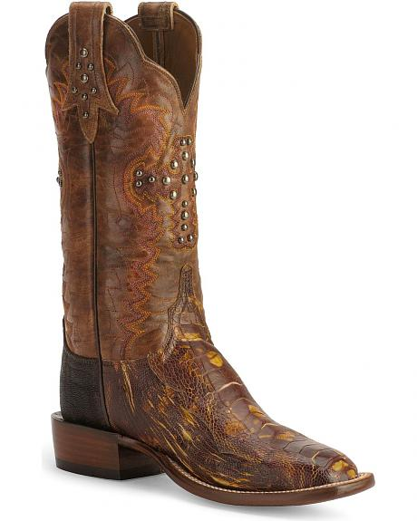 Lucchese Boots - Handcrafted Cowgirl Kimono Ostrich Leg Boots - Sq Toe