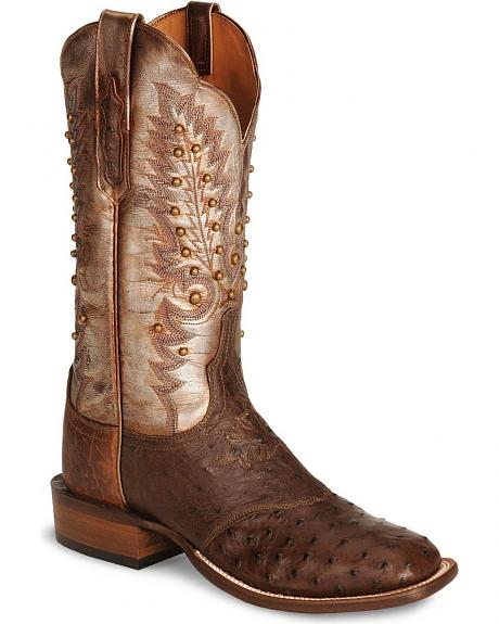 Lucchese Boots - Handcrafted Cowgirl Sienna Pin Ostrich Boot - Square Toe