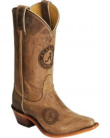 Nocona Alabama Crimson Tide College Boots - Snip Toe
