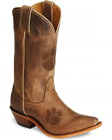 Nocona Clemson Tigers College Boots - Snip Toe