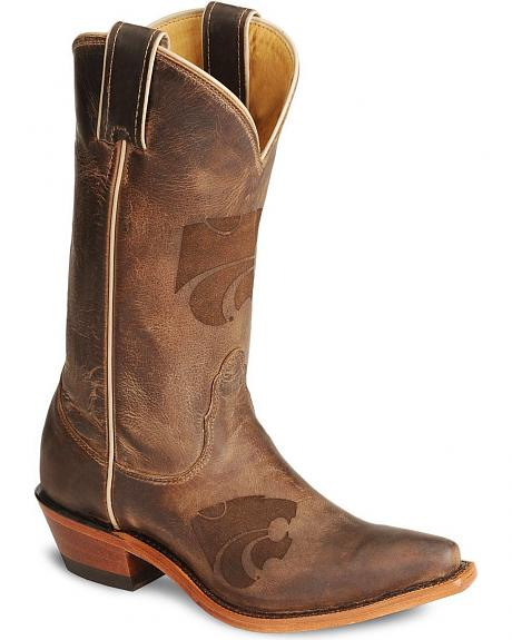 Nocona Kansas State Wildcats College Boot - Snip Toe