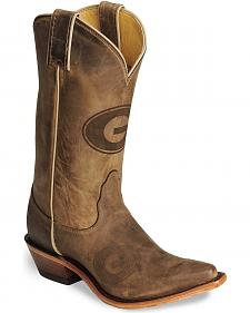 Nocona Georgia Bulldogs College Boots - Snip Toe