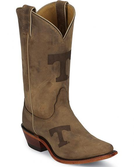Nocona Tennessee Volunteers College Boots - Snip Toe