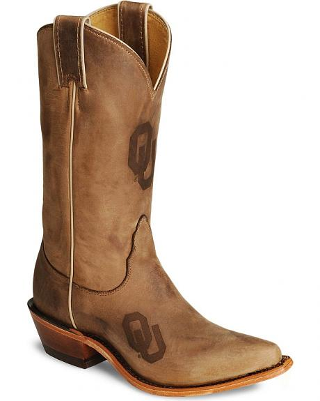 Nocona Oklahoma Sooners College Boots - Snip Toe
