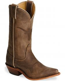 Nocona Texas Longhorns College Boots - Snip Toe