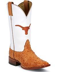 Nocona Full Quill Ostrich University Of Texas Longhorns