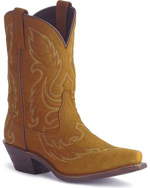Laredo Distressed Goat Leather Cowgirl Boot - Snip Toe